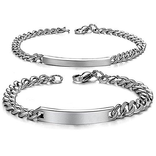 Jewelrywe Schmuck 2pcs Herren Damen Armband Lieben