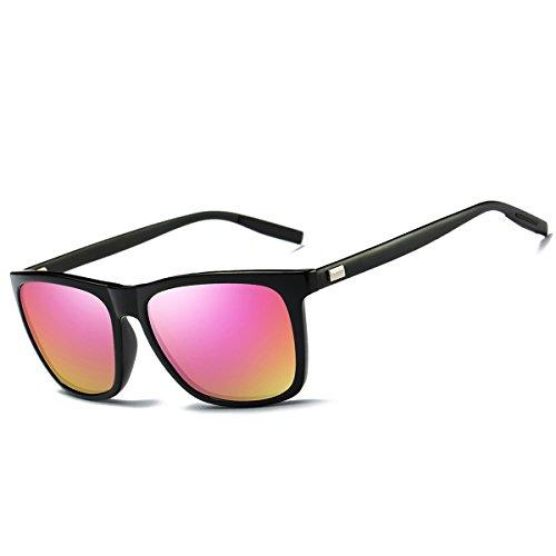 FEIDU Polarized Wayfarer Sonnenbrille für Herren FD9003 (Schwarz, 2.24)