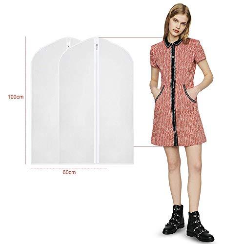 2 Stück Kleidersäck 100 x 60 cm - Hochwertiger Anzugsack ...